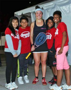With San Francisco's SquashDrive participants